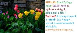 április kép, számmisztika