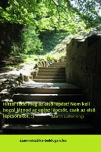 az első lépés, idézet