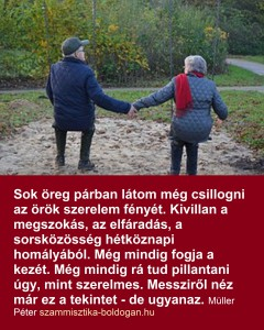 idősek, szeretet idézet