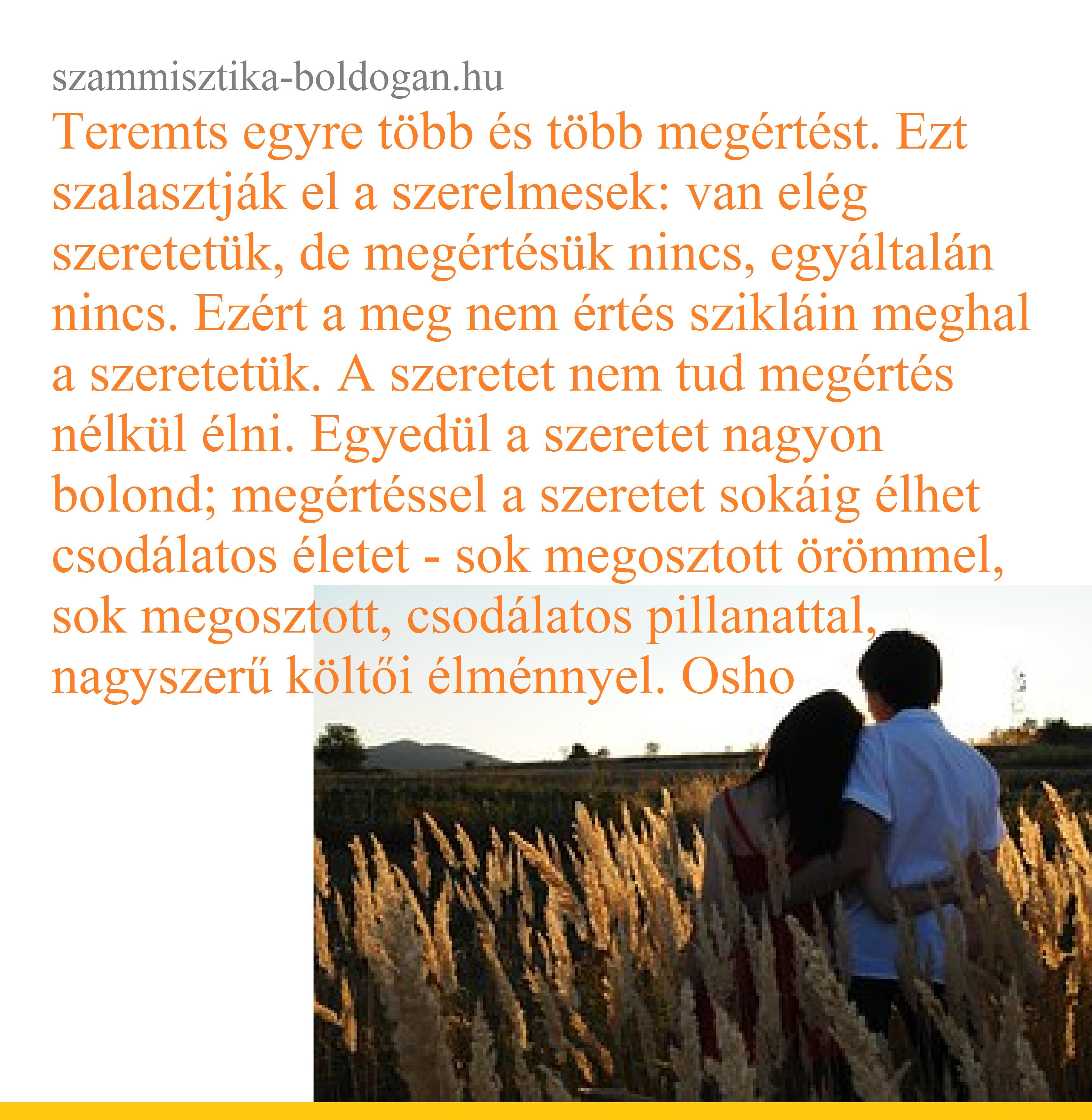 szeretet, megértés, osho idézet